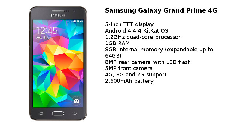 Samsung Galaxy Grand Prime Specification