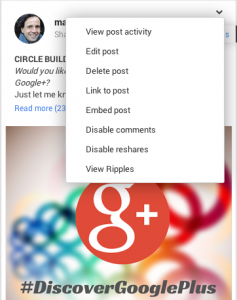 Close Off Comments in Google+