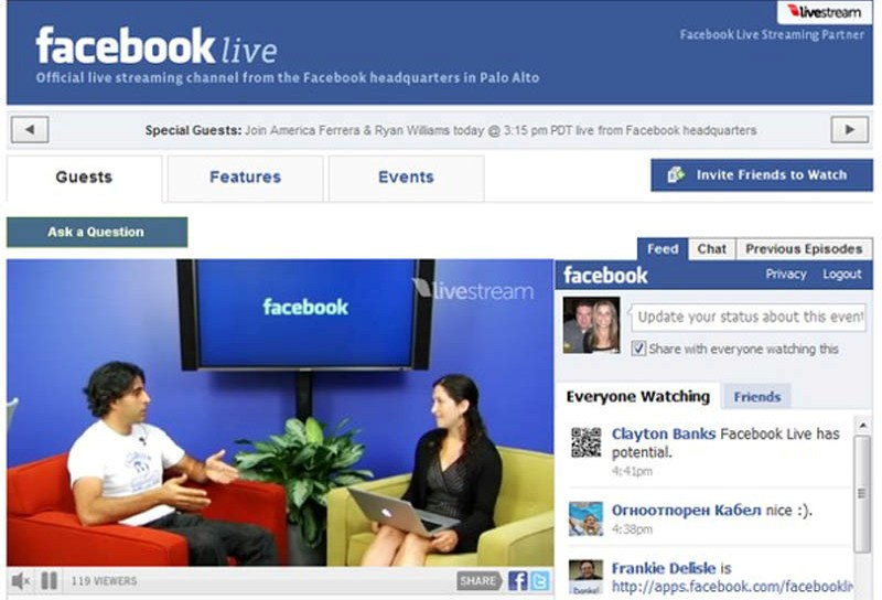 Facebook Live Video Feed