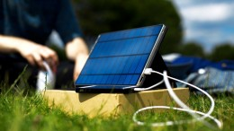 Solartab Really Charges Your Mobile Device with Sunlight Power