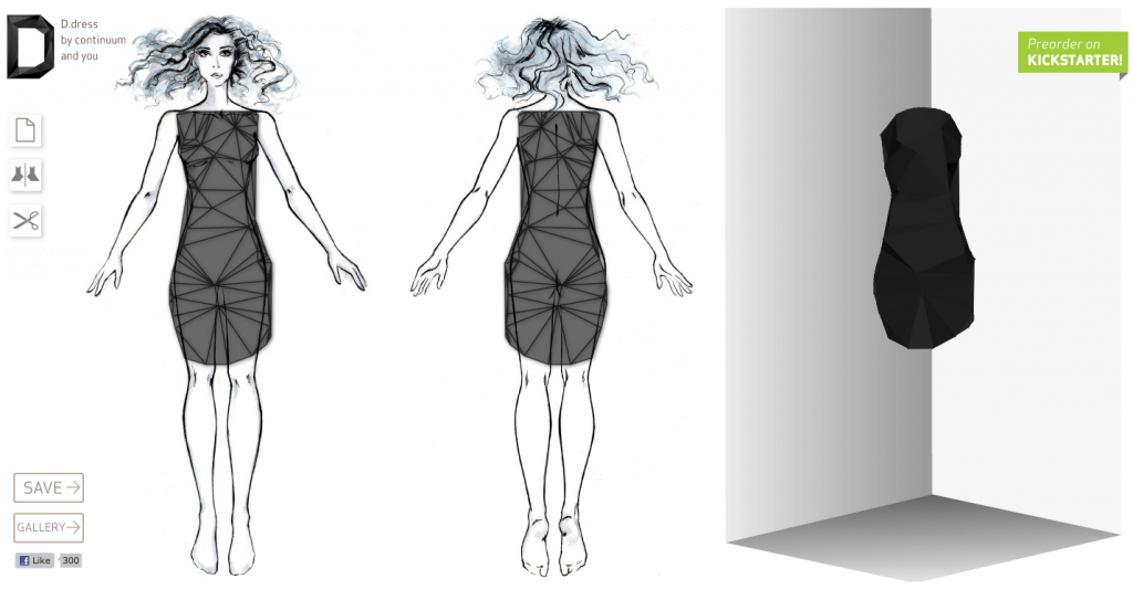 clothes design with Continuum