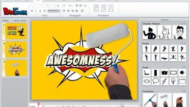Animated marketing presentation using Powtoon
