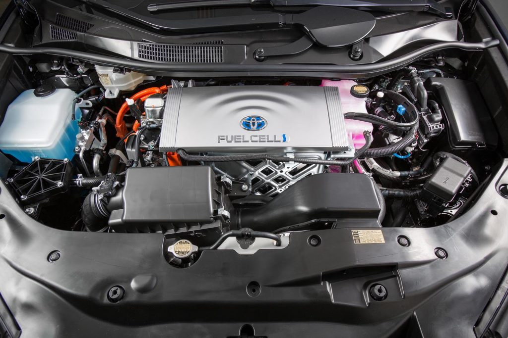 Engine-of-2016-Toyota-Mirai-using-technology-of-wafer-thin-cells-which-produces-a-chemical-reaction-