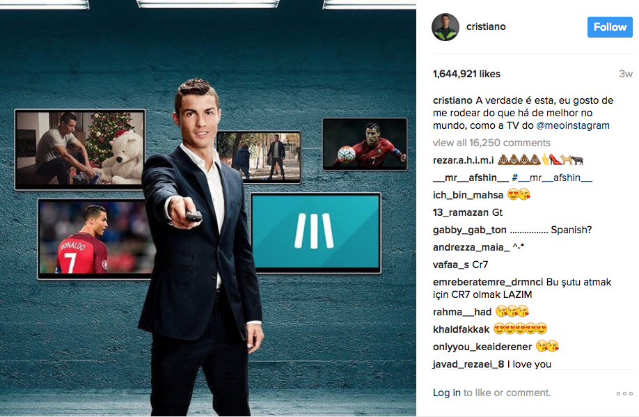 ronaldo influencer marketing