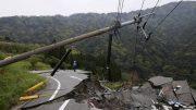 A fallen telephone tower