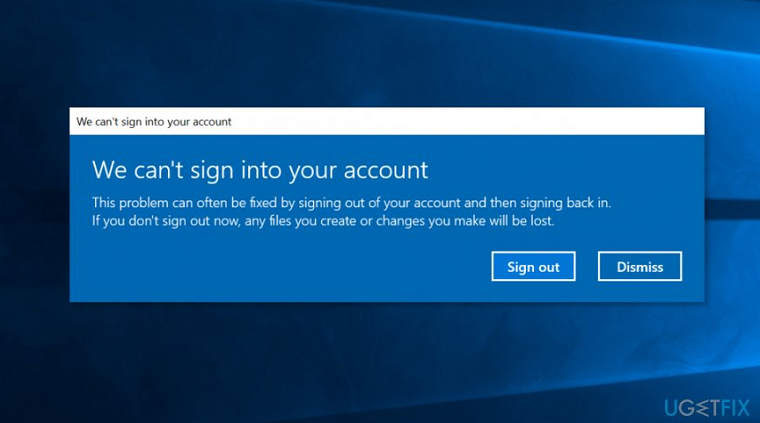 Cannot sign into your account