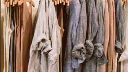 Wearing linen clothes