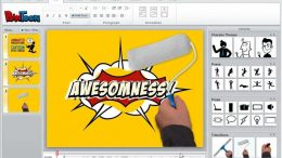Animated marketing presentation using Powtoon