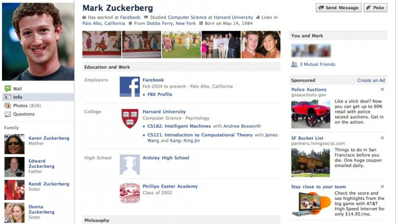 Facebook Profile