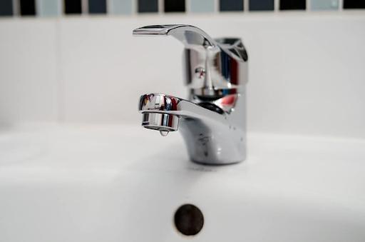 A silver faucet
